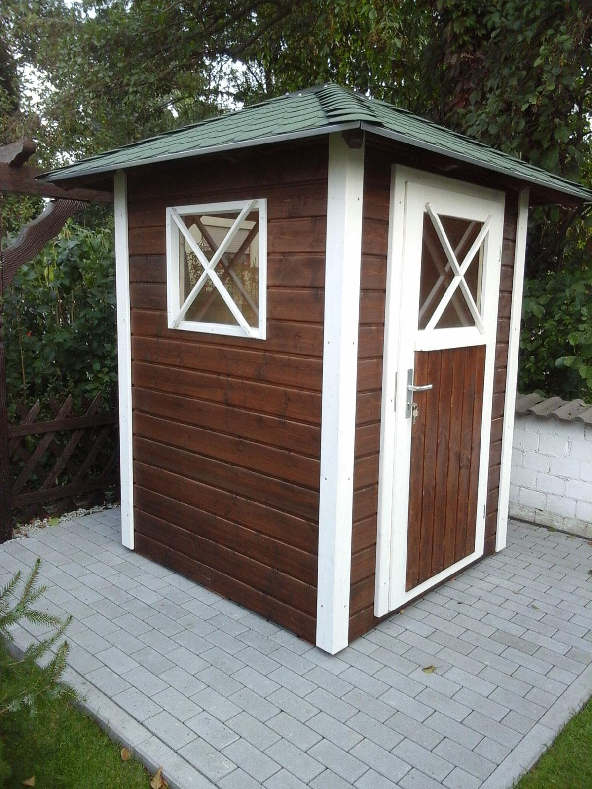 kleines gartenhaus für geräte